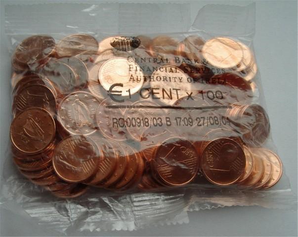 1 Cent Beutel Irland 2002 Graf Waldschratde In Unserem Euro