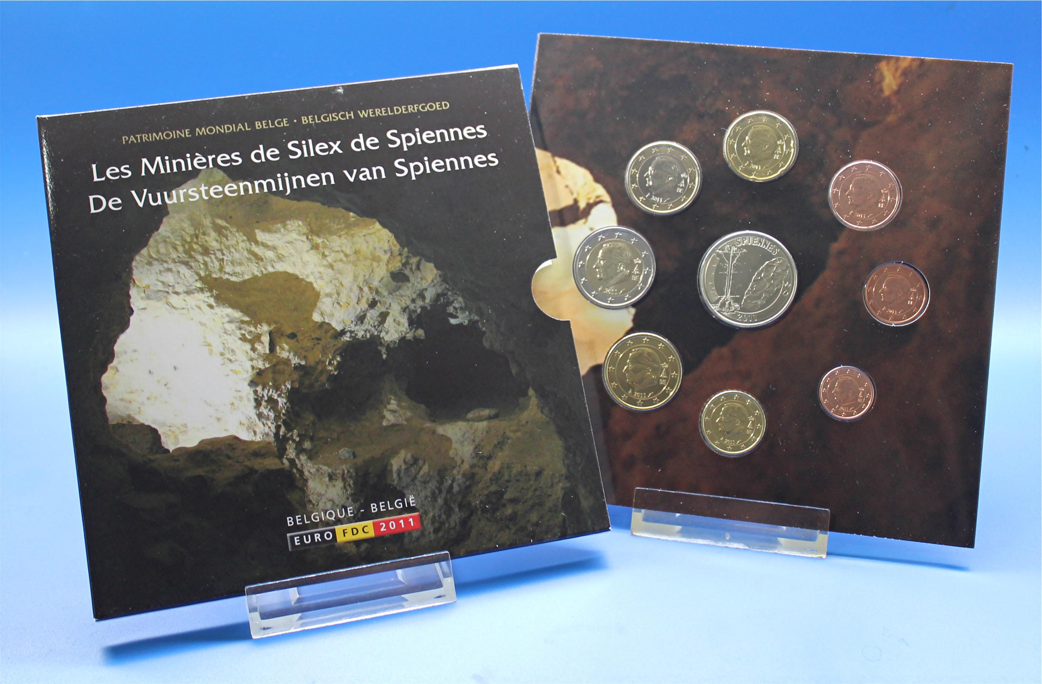Belgien 2011 Bu 1 Cent Bis 2 Euro Graf Waldschratde In Unserem