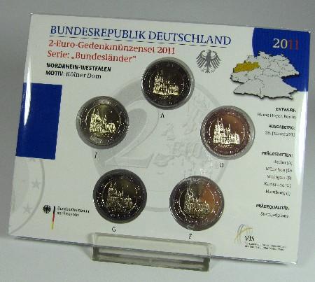 Coin Card 2 Euro Deutschland 2011 A Bis J Kölner Dom Graf