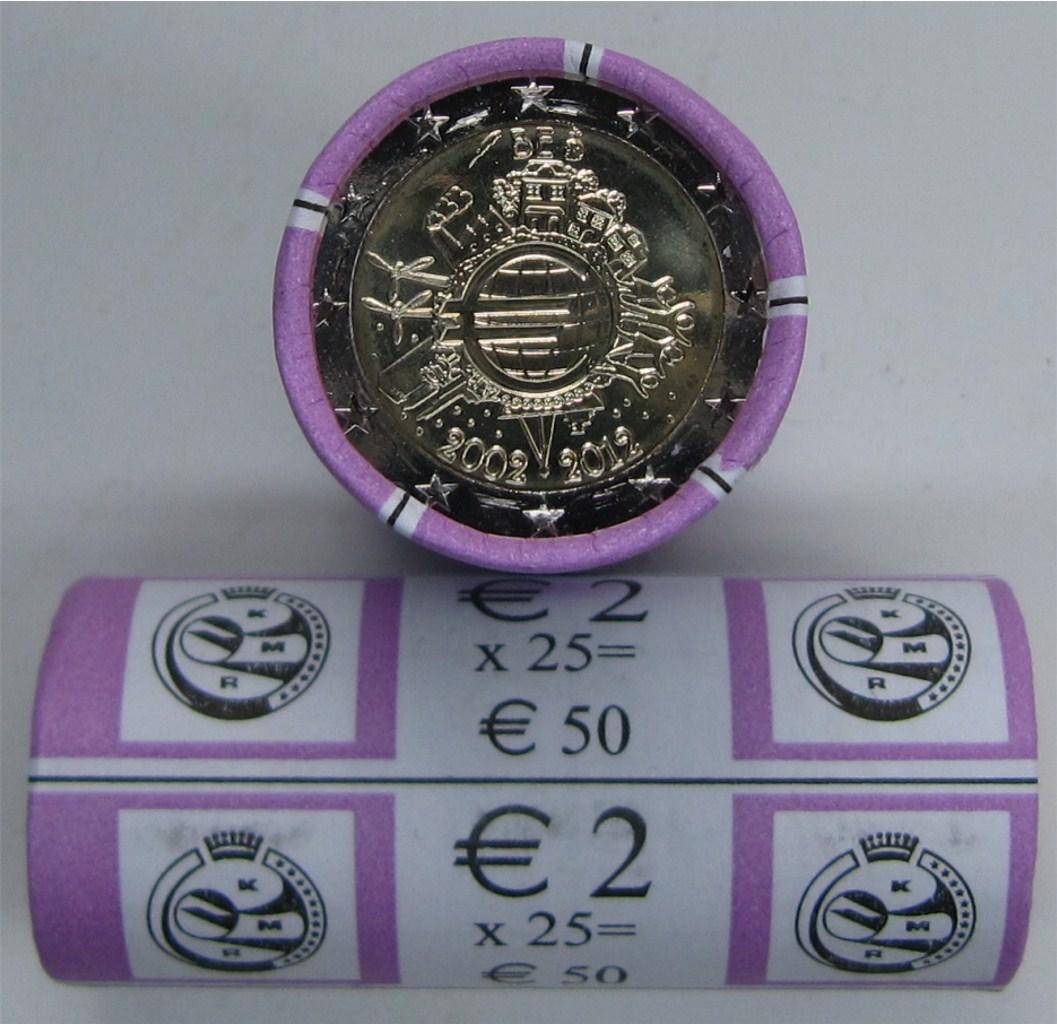 2 euro rolle belgien 2012 w hrung graf. Black Bedroom Furniture Sets. Home Design Ideas