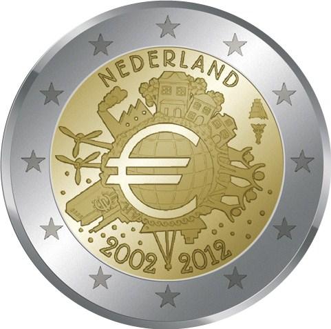 2 euro niederlande 2012 w hrung graf in. Black Bedroom Furniture Sets. Home Design Ideas