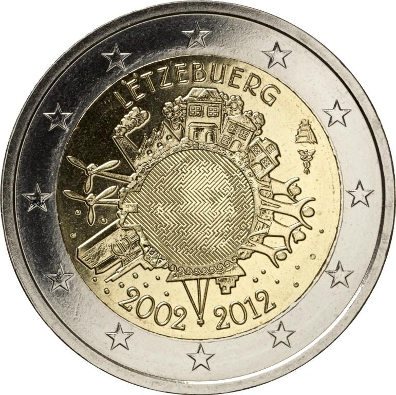 2 Euro Luxemburg 2012 Währung Graf Waldschratde In Unserem