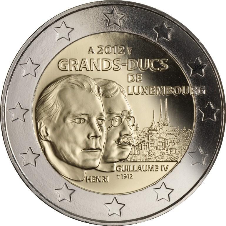 2 Euro Luxemburg 2012 Wilhelm Iv Graf Waldschratde In Unserem
