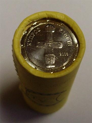 1 Euro Rolle Zypern 2011 Graf Waldschratde In Unserem Euro