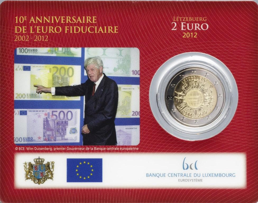 2 Euro Coin Card Luxemburg 2012 Währung Graf Waldschratde In