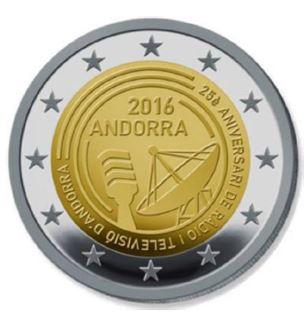 2 Euro Andorra 2016 Rundfunk In Andorra Graf Waldschratde In