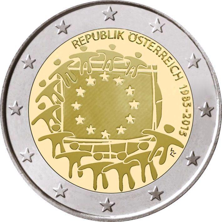 2 Euro österreich 2015 Europaflagge Graf Waldschratde In