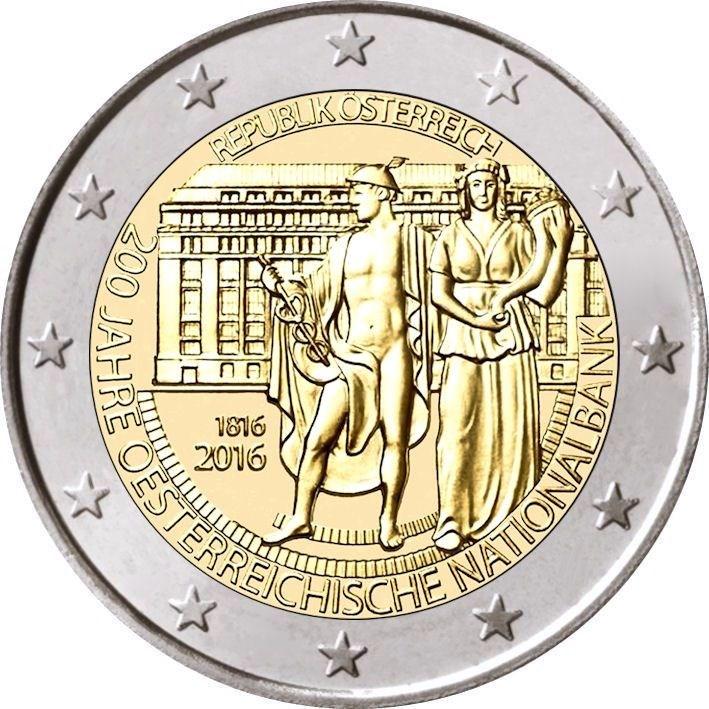 2 Euro österreich 2016 Nationalbank Graf Waldschratde In