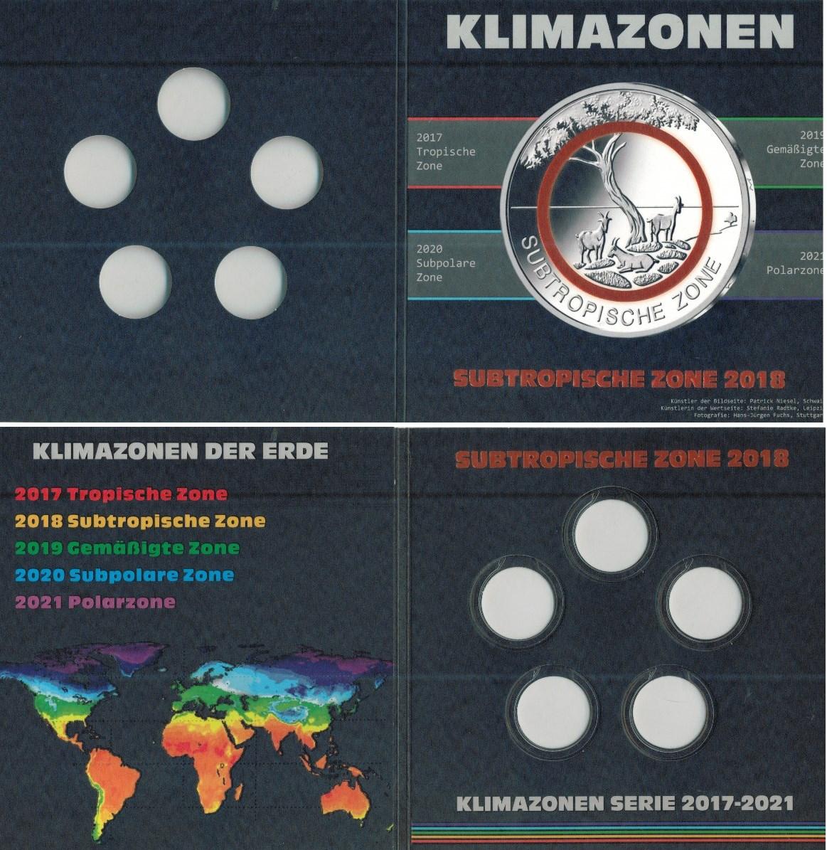 Folder Für 5 Euro Münzen Deutschland 2018 Subtropische Zonen