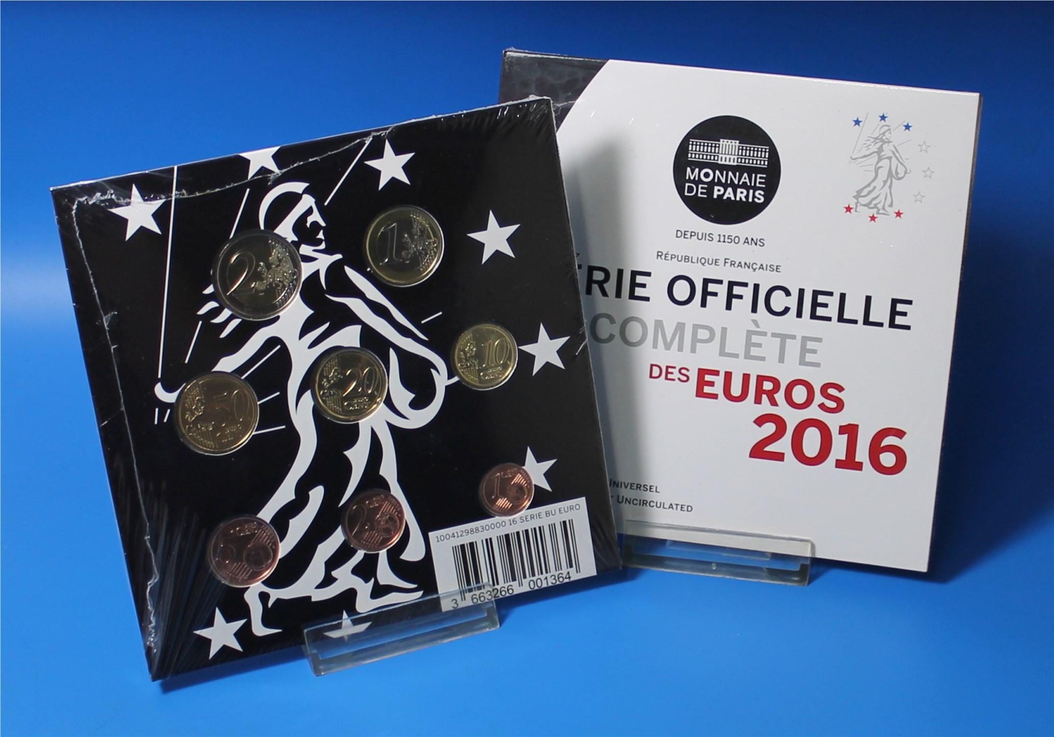 Frankreich 2016 Bu 1 Cent Bis 2 Euro Graf Waldschratde In