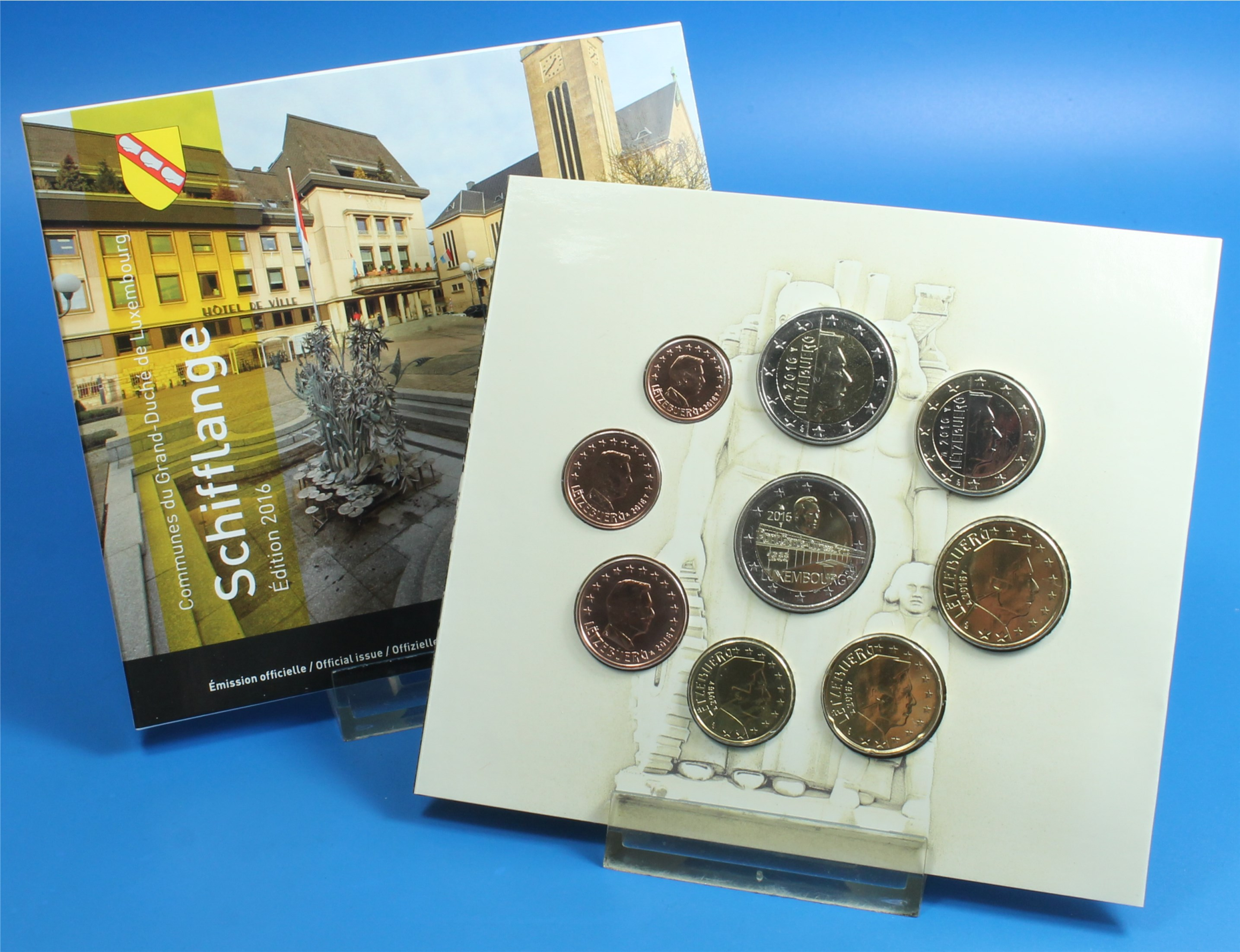 Luxemburg 2016 Bu 1 Cent Bis 2 Euro2 Euro Cc Graf Waldschratde