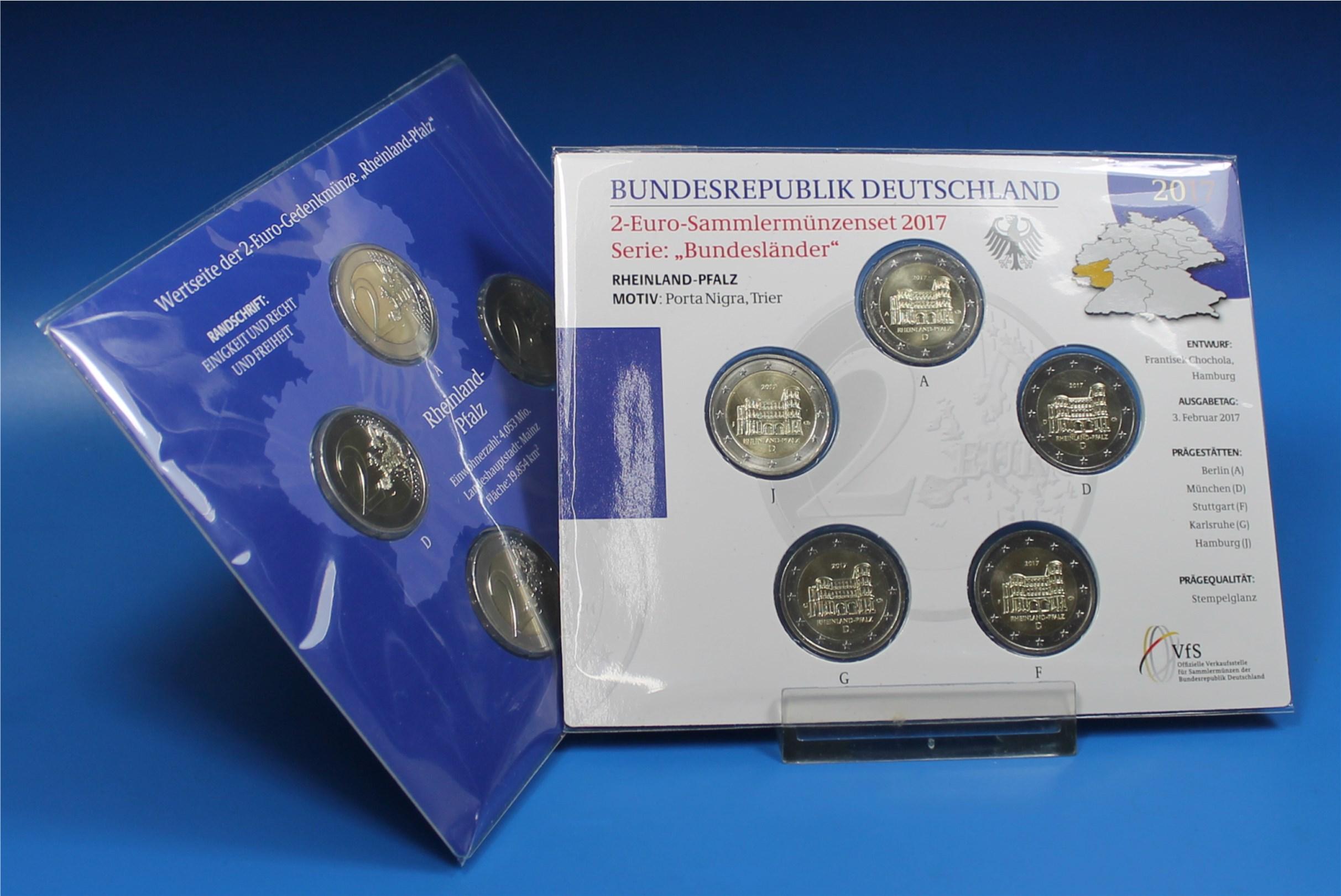 Coin Card 2 Euro Deutschland 2017 A Bis J Porta Nigra Graf