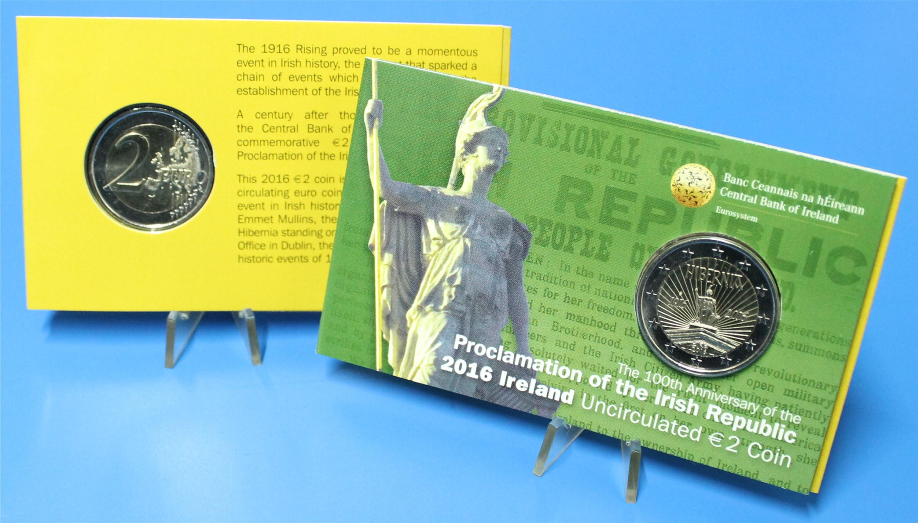 Coin Card 2 Euro Irland 2016 Osteraufstand Graf Waldschratde