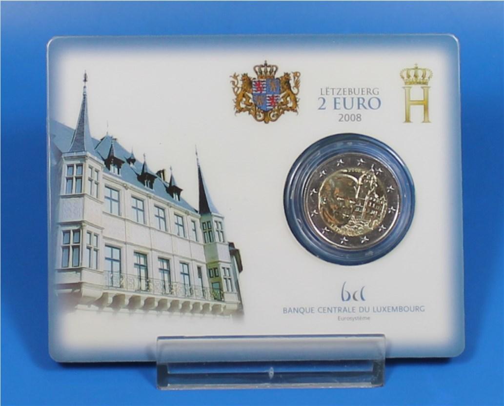 2 Euro Coin Card Luxemburg 2008 Cc 15000 Stück Graf