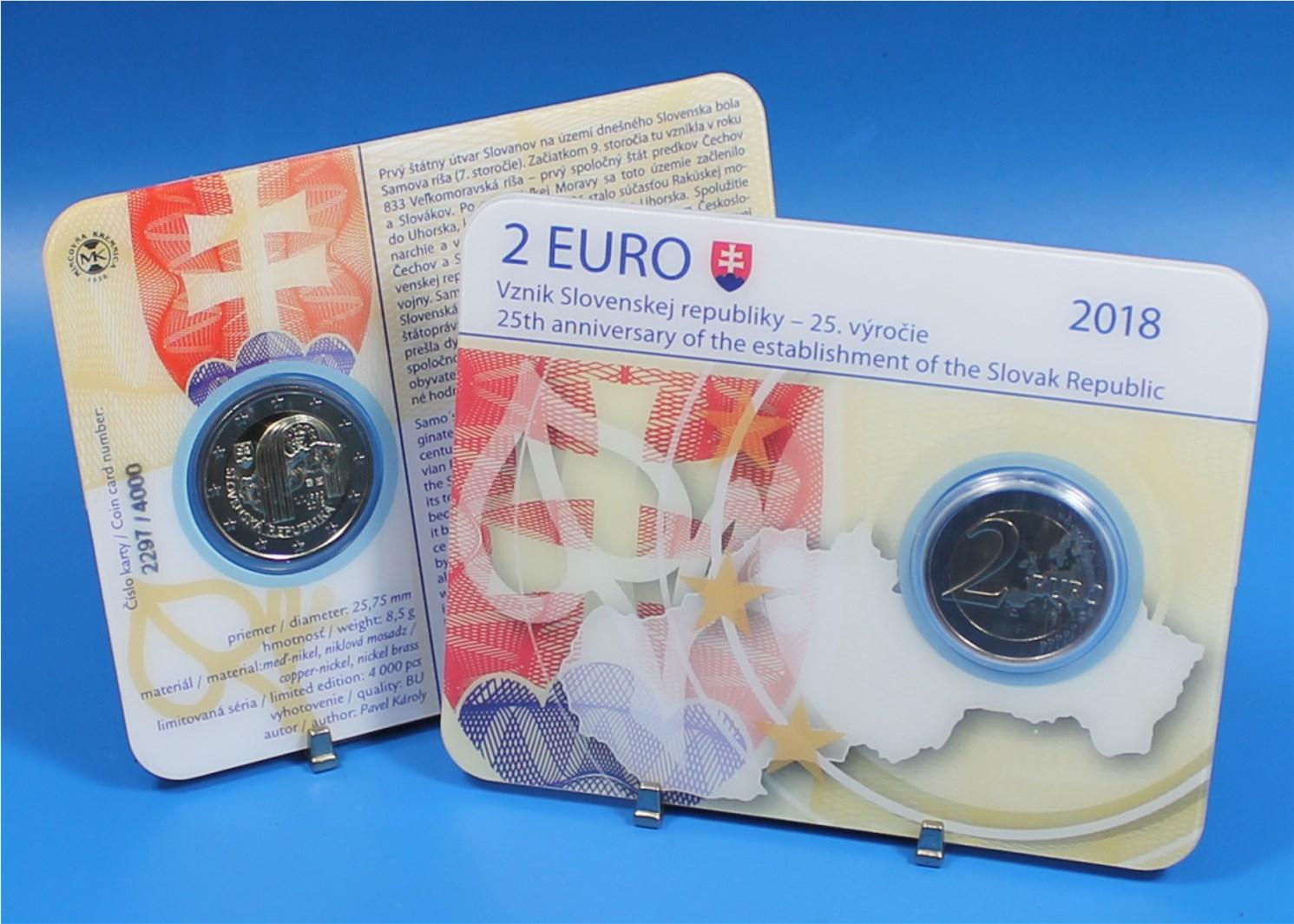 2 Euro Coin Card Slowakei 2018 Republik Slowakei Graf Waldschrat