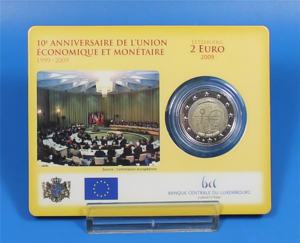 2 Euro Coin Card Luxemburg 2009 Wwu 10000 Stück Graf