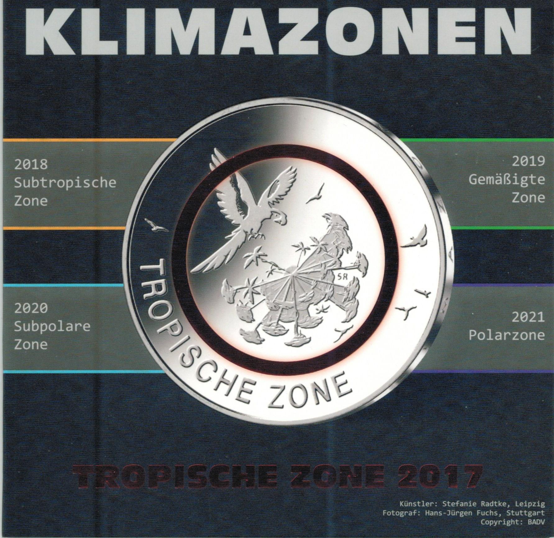 Folder Für 5 Euro Münzen Deutschland 2017 Tropische Zonen Graf
