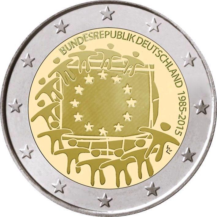 2 Euro Deutschland 2015 J Hamburg Europaflagge Graf Waldschrat