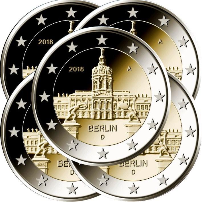 2 Euro Deutschland 2018 Adfgj Schloss Charlottenburg Graf