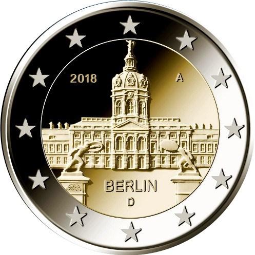 2 Euro Deutschland 2018 J Hamburg Schloss Charlottenburg Graf