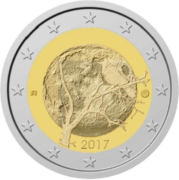 2 Euro Finnland 2017 Finnische Natur Graf Waldschratde In