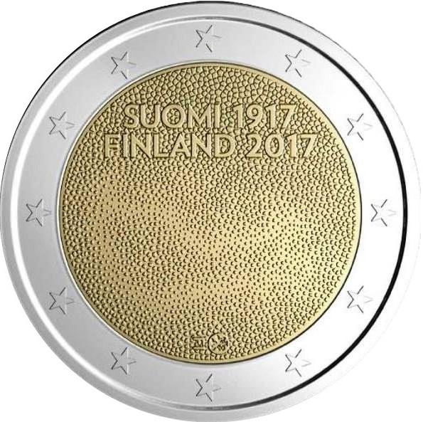 2 Euro Finnland 2017 Unabhängigkeit Graf Waldschratde In