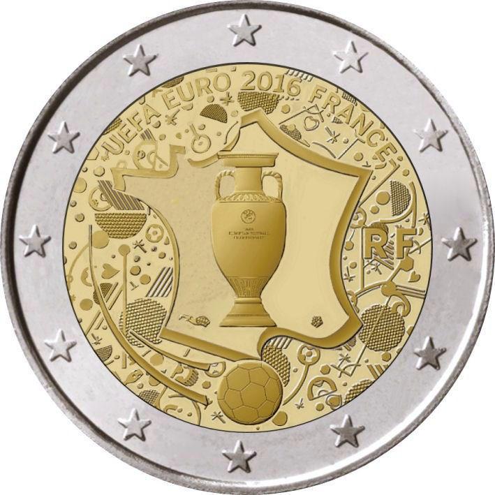 2 Euro Frankreich 2016 Uefa Graf Waldschratde In Unserem Euro