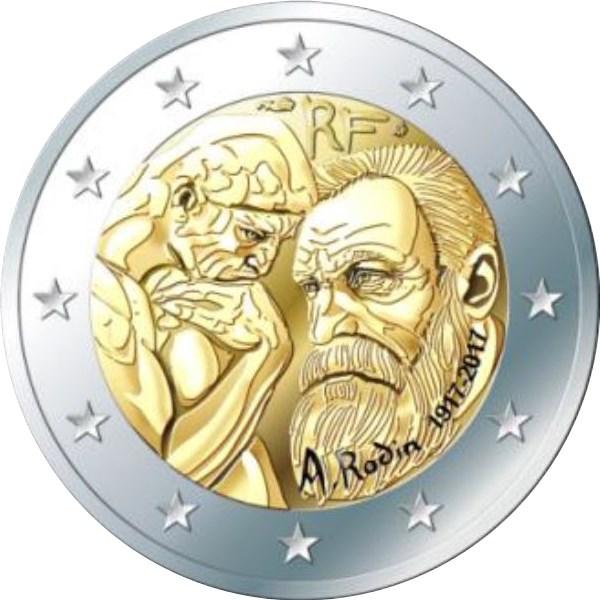 2 Euro Frankreich 2017 Rodin Graf Waldschratde In Unserem Euro