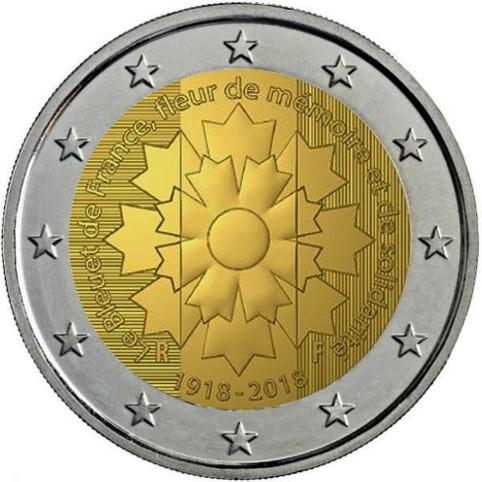 2 Euro Frankreich 2018 Kornblume Graf Waldschratde In Unserem