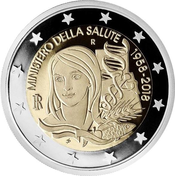 2 Euro Italien 2018 Gesundheitsministerium Graf Waldschratde