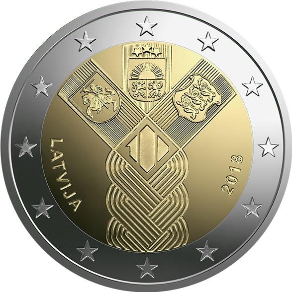 2 Euro Lettland 2018 100 Jahre Unabhängigkeit Graf Waldschratde