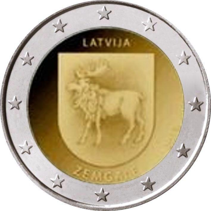 2 Euro Lettland 2018 Semgallen Semgale Graf Waldschratde In