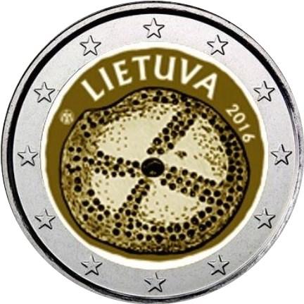 2 Euro Litauen 2016 Kultur Graf Waldschratde In Unserem Euro