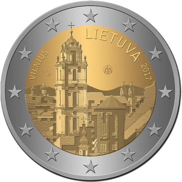 2 Euro Litauen 2017 Vilnius Graf Waldschratde In Unserem Euro