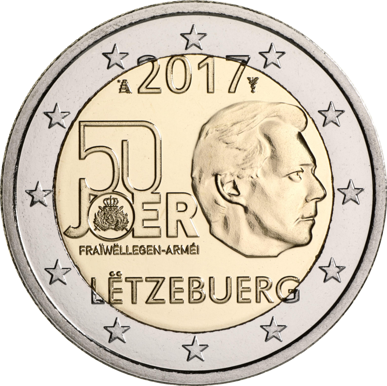 2 Euro Luxemburg 2017 Wehrdienst Graf Waldschratde In Unserem