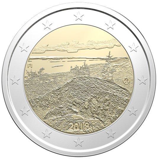 2 Euro Finnland 2018 Gipfel Des Koli Graf Waldschratde In