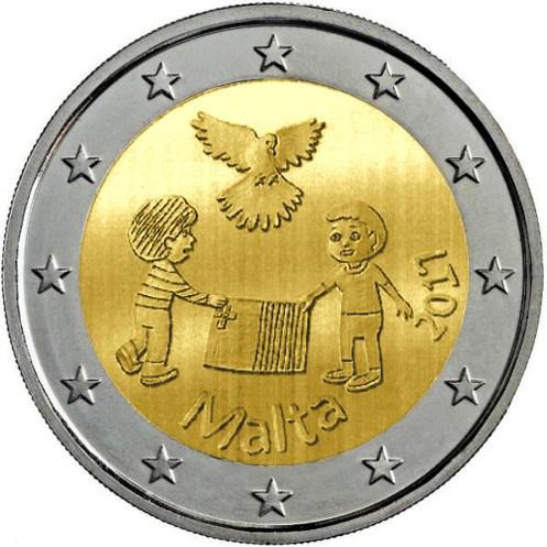 2 Euro Malta 2017 Frieden Graf Waldschratde In Unserem Euro