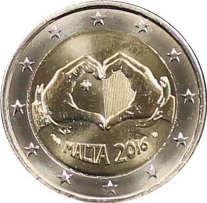 2 Euro Malta 2016 Liebe Mit Französischem Münzzeichen Graf