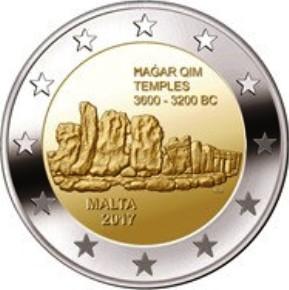 2 Euro Malta 2017 Hagar Qim Graf Waldschratde In Unserem Euro