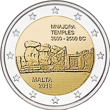 2 Euro Malta 2018 Mnajdra Graf Waldschratde In Unserem Euro