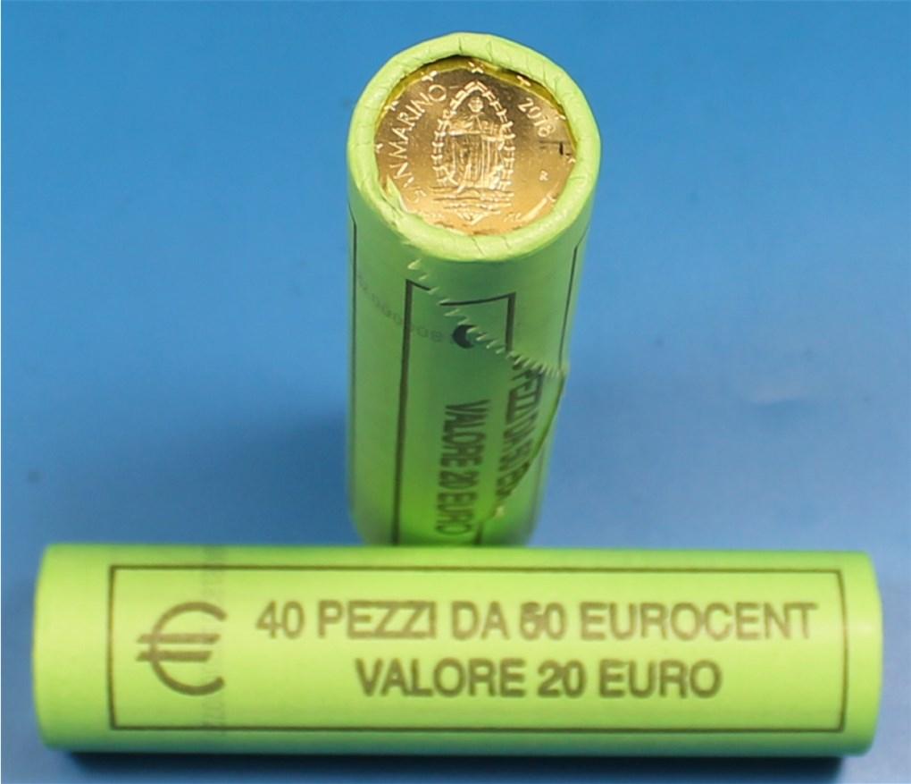 50 Cent Rolle San Marino 2018 Graf Waldschratde In Unserem Euro