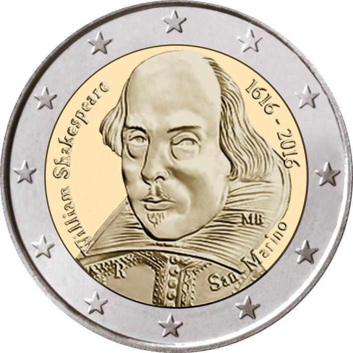 2 Euro San Marino 2016 Shakespeare In Capsule Graf Waldschratde
