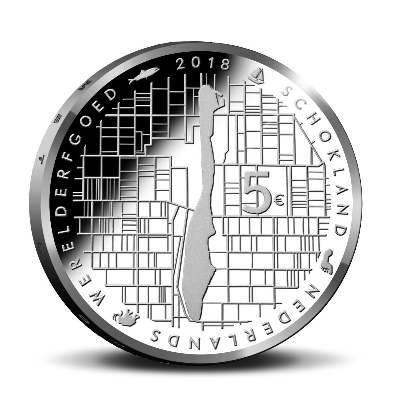 5 Euro Niederlande 2018 Schokland Graf Waldschratde In Unserem