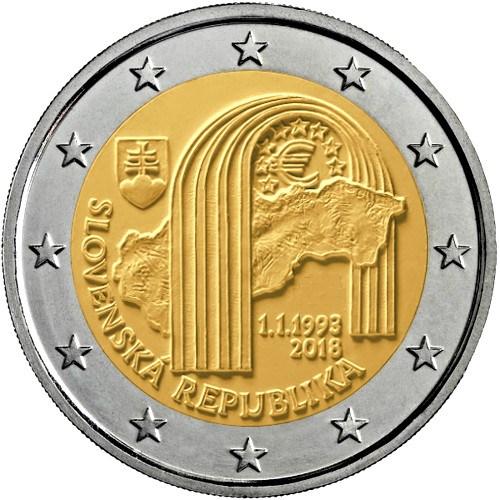 2 Euro Slowakei 2018 25 Jahrestag Der Republik Slowakei Graf