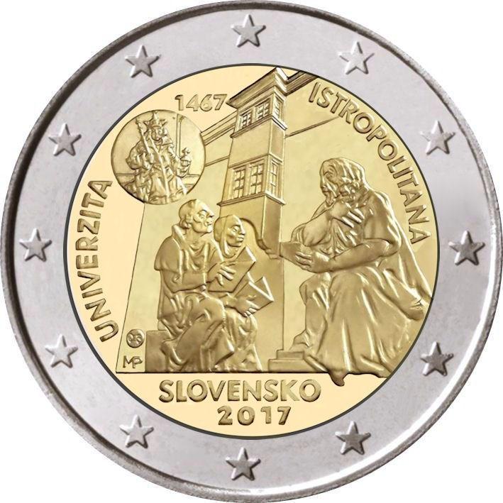 2 Euro Slowakei 2017 Universitas Istropolitana Graf Waldschrat