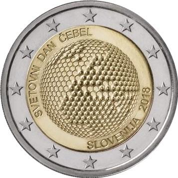2 Euro Slowenien 2018 Weltbienentag Graf Waldschratde In