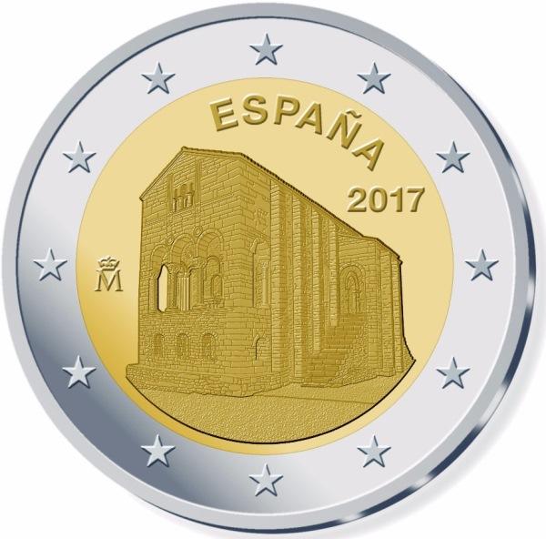 2 Euro Spanien 2017 Monumente Von Oviedoasturien Graf