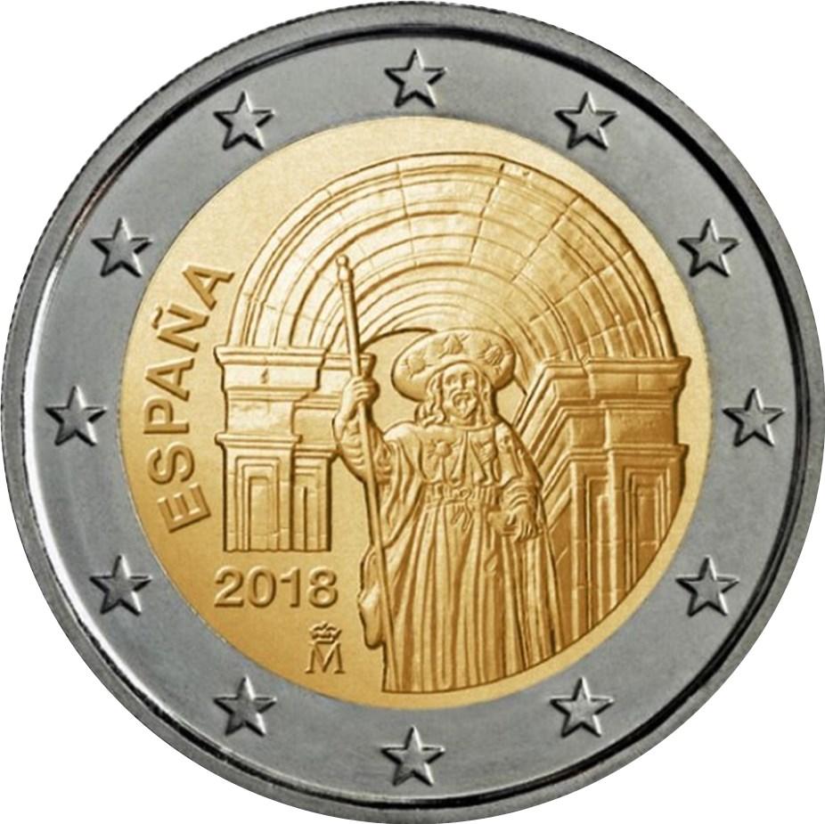 2 Euro Spanien 2018 Santiago De Compostela Graf Waldschratde