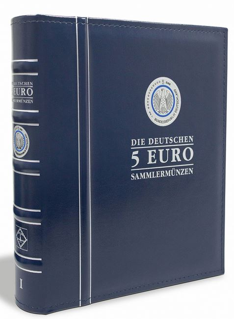 a64e7b4874 OPTIMA pre-printed album for the German 5 Euro collector's coins, volume 1,  incl. Protective box - graf-waldschrat.de