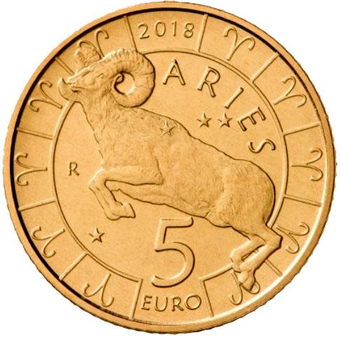 5 Euro San Marino 2018 Sternzeichen Widder Graf Waldschratde